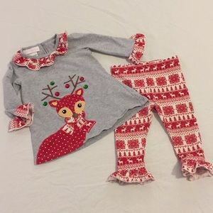 .Bonnie Baby. Christmas reindeer outfit 18 mo